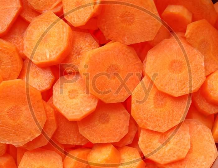 Sliced Carrots Background