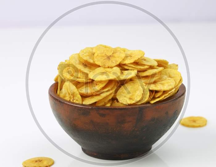Dried Banana Chips Or Banana Waffers