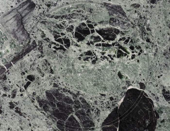 Green And Black Marble Texture Background