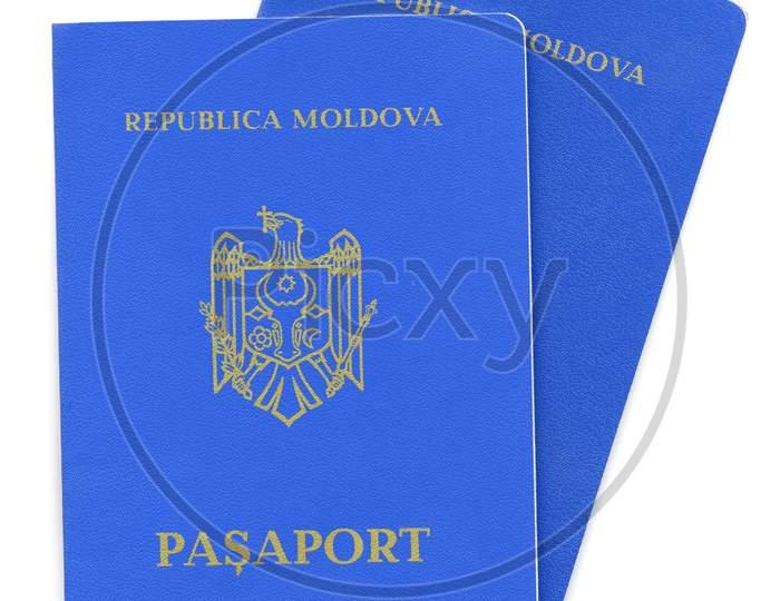 Moldovan Passport Isolated