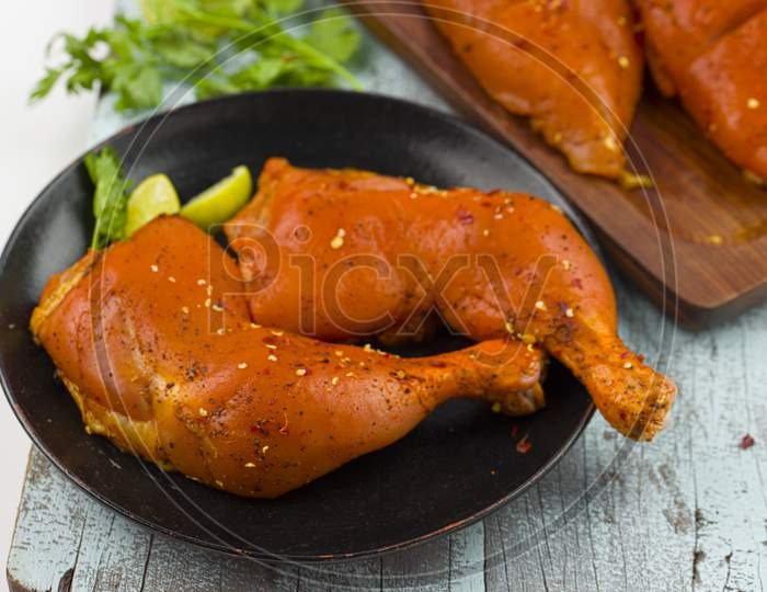 Marinated  Chicken Legs And Breast Fillet