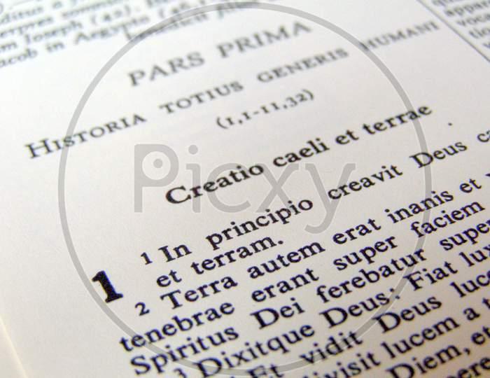 Latin Book Of Genesis