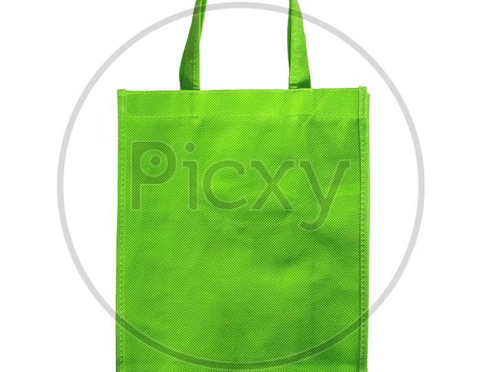 Green Bag Isolated Over White