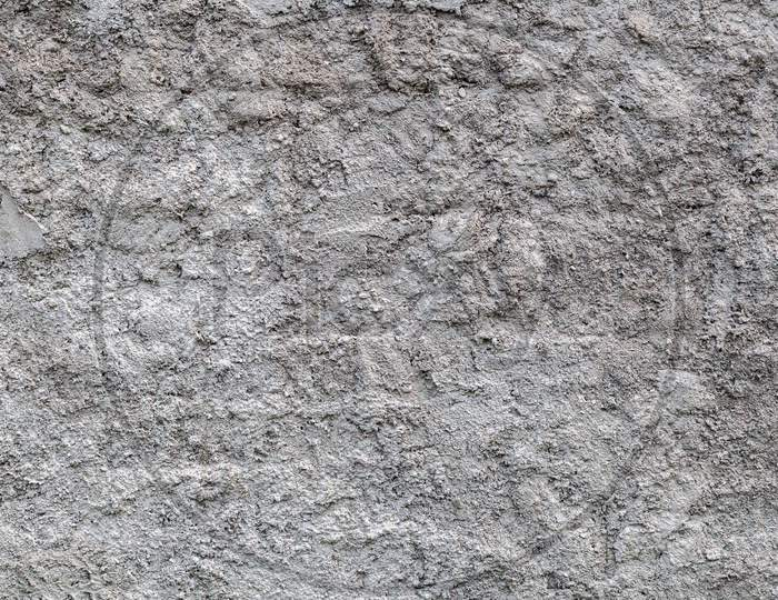 Close-Up Of A   Gray Stone Wall Of A Very Old Building  Gray Texture Background