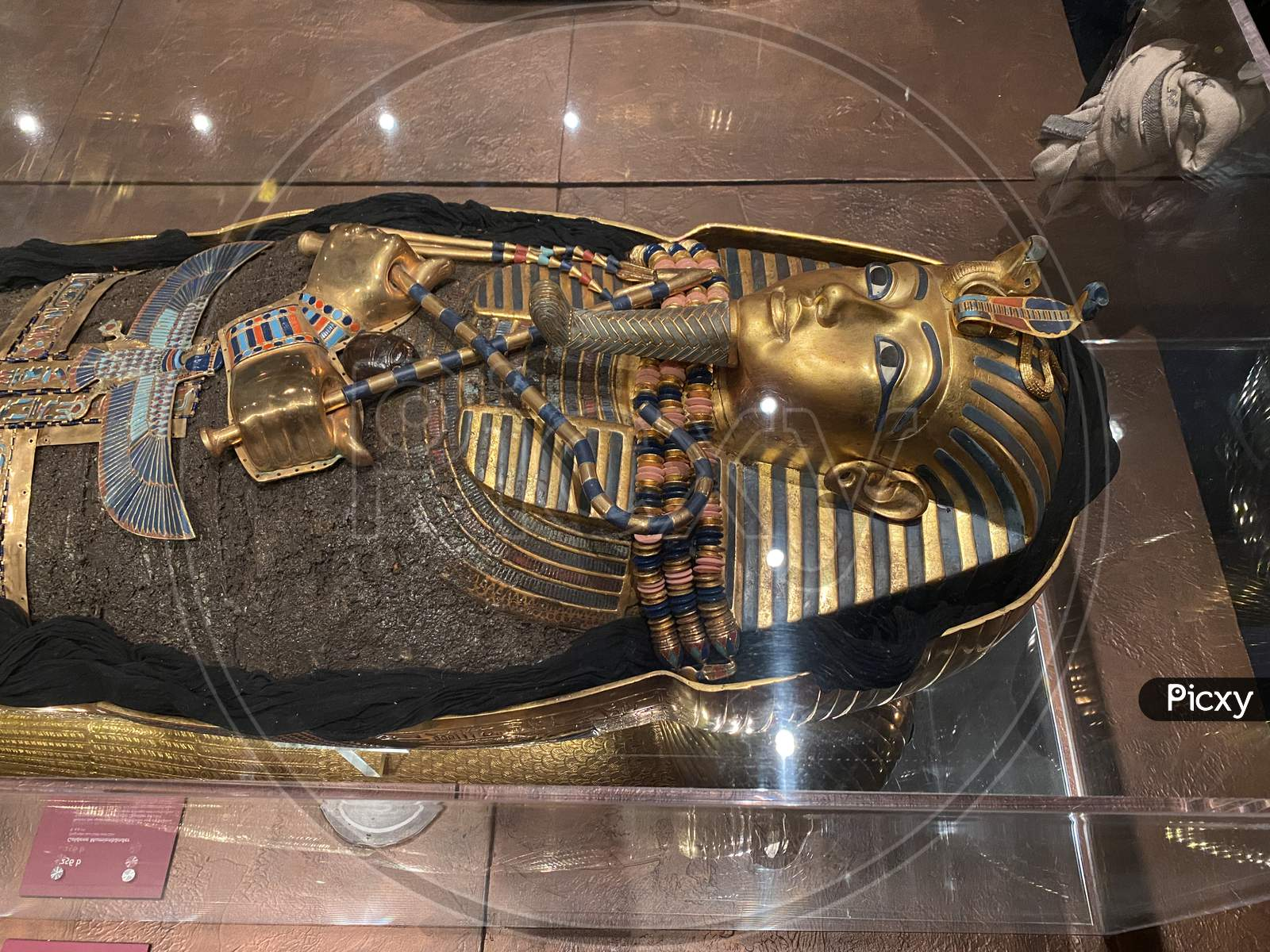 Tomb And Treasures With Gold Mask And Replicas From Egypt Pharaoh Tutankhamun. 14.03.2021 - Oerlikon, Switzerland.