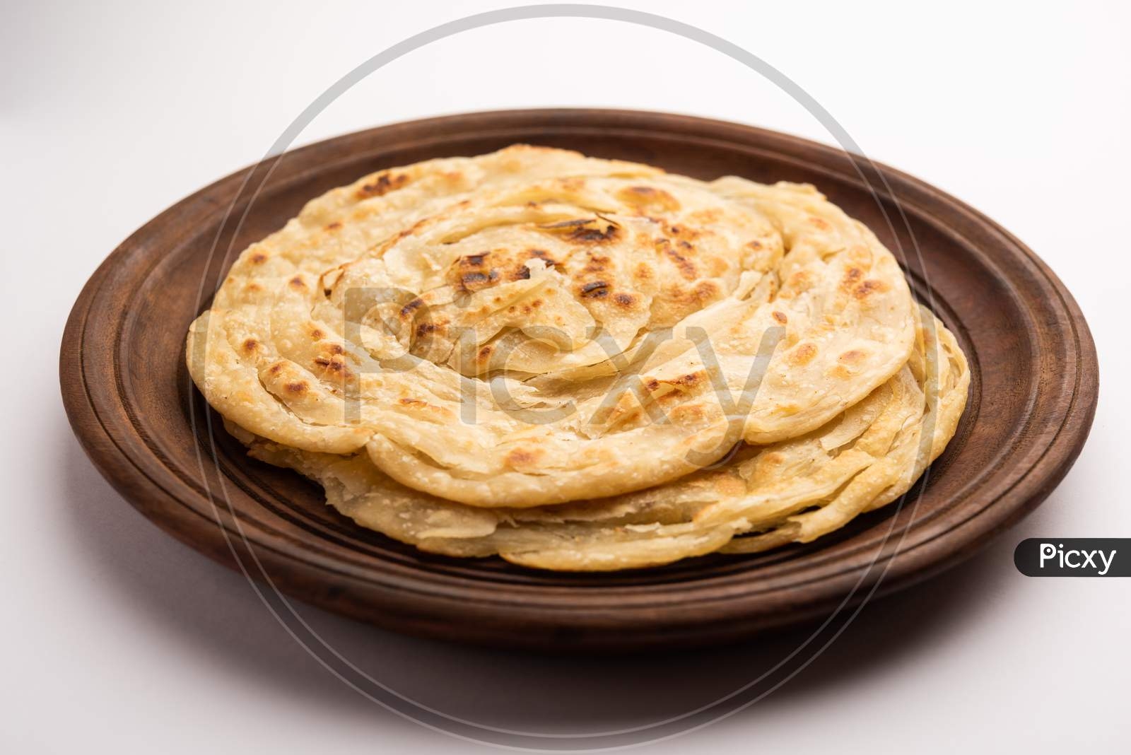 Indian Flatbread Called Laccha Paratha, Made Up Of Layers Using Wheat Flour Or Maida