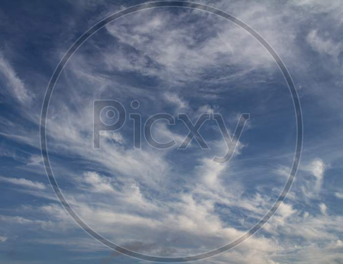 Sky Of Abundant White Clouds And Celestial Spaces.