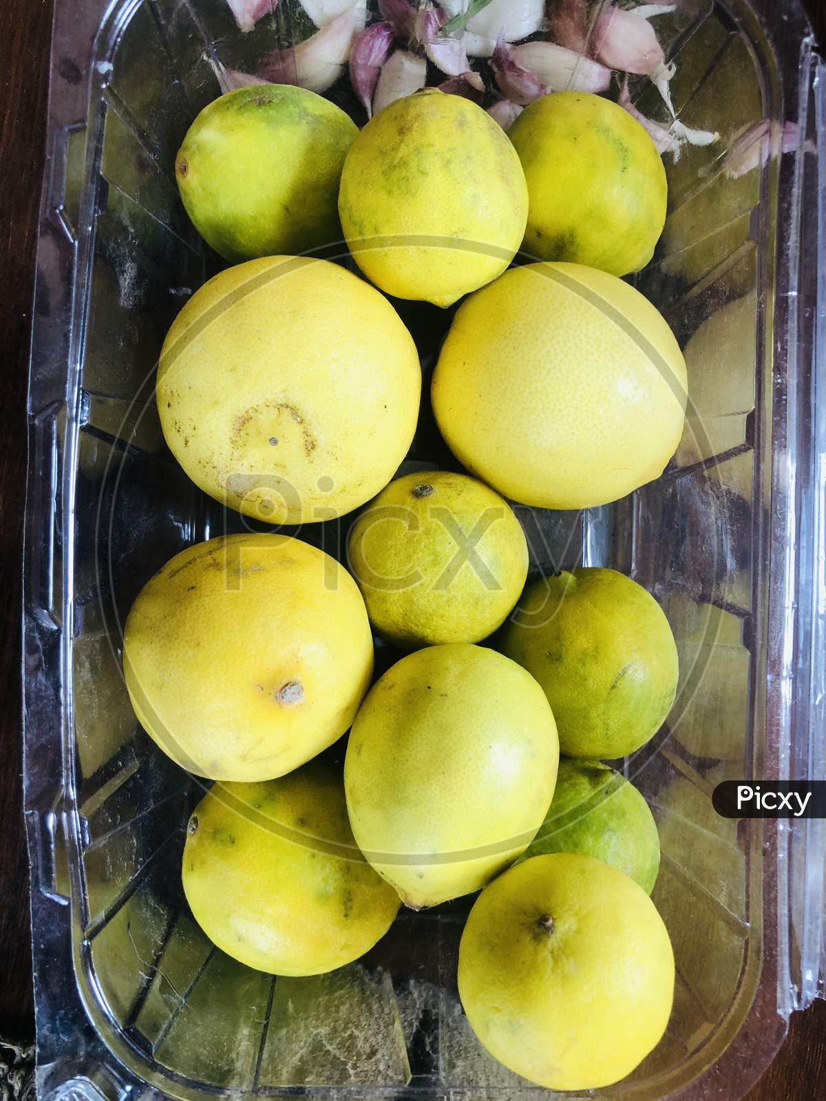 Natural Yellow Lemons Citrus Fruit