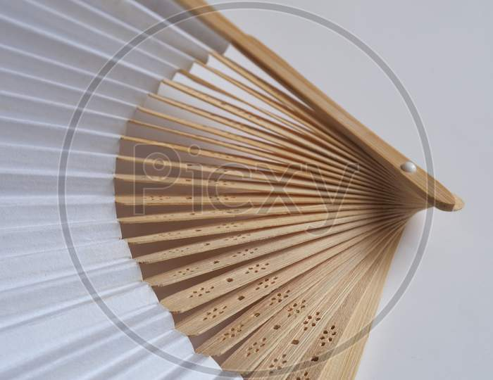 Traditional Japanese Or Chinese Hand Fan