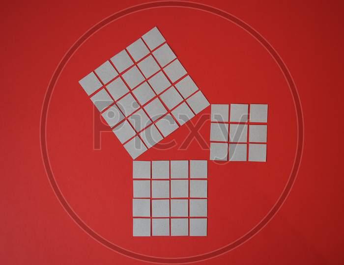 Geometric Demonstration Of Pythagoras Theorem