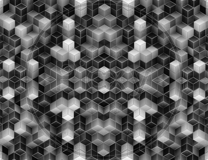 A creative beautiful 3d design abstract background.