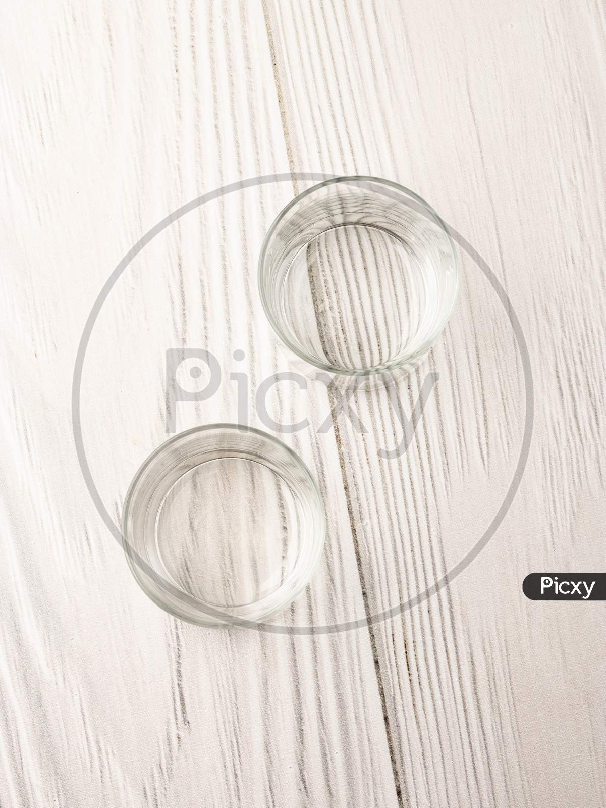 Empty glass with white background stock image.