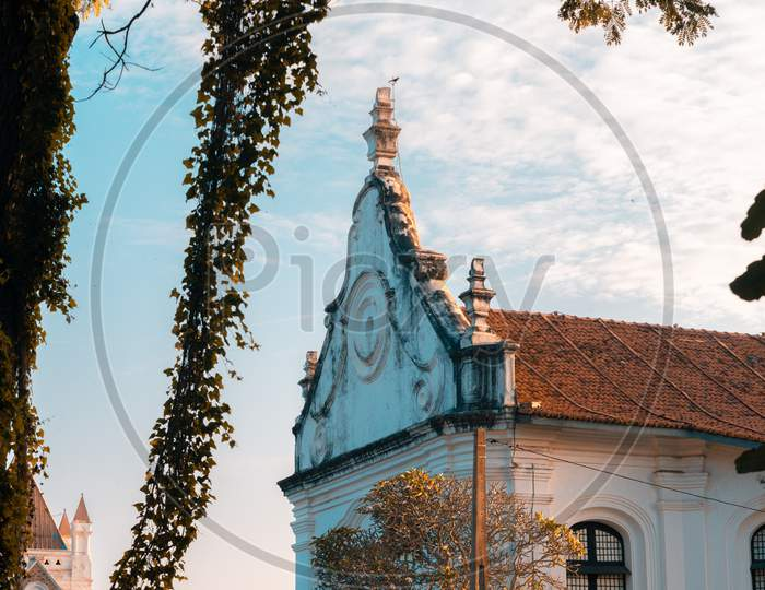 Dutch Reformed Church In Galle Fort Evening Landscape Photograph.