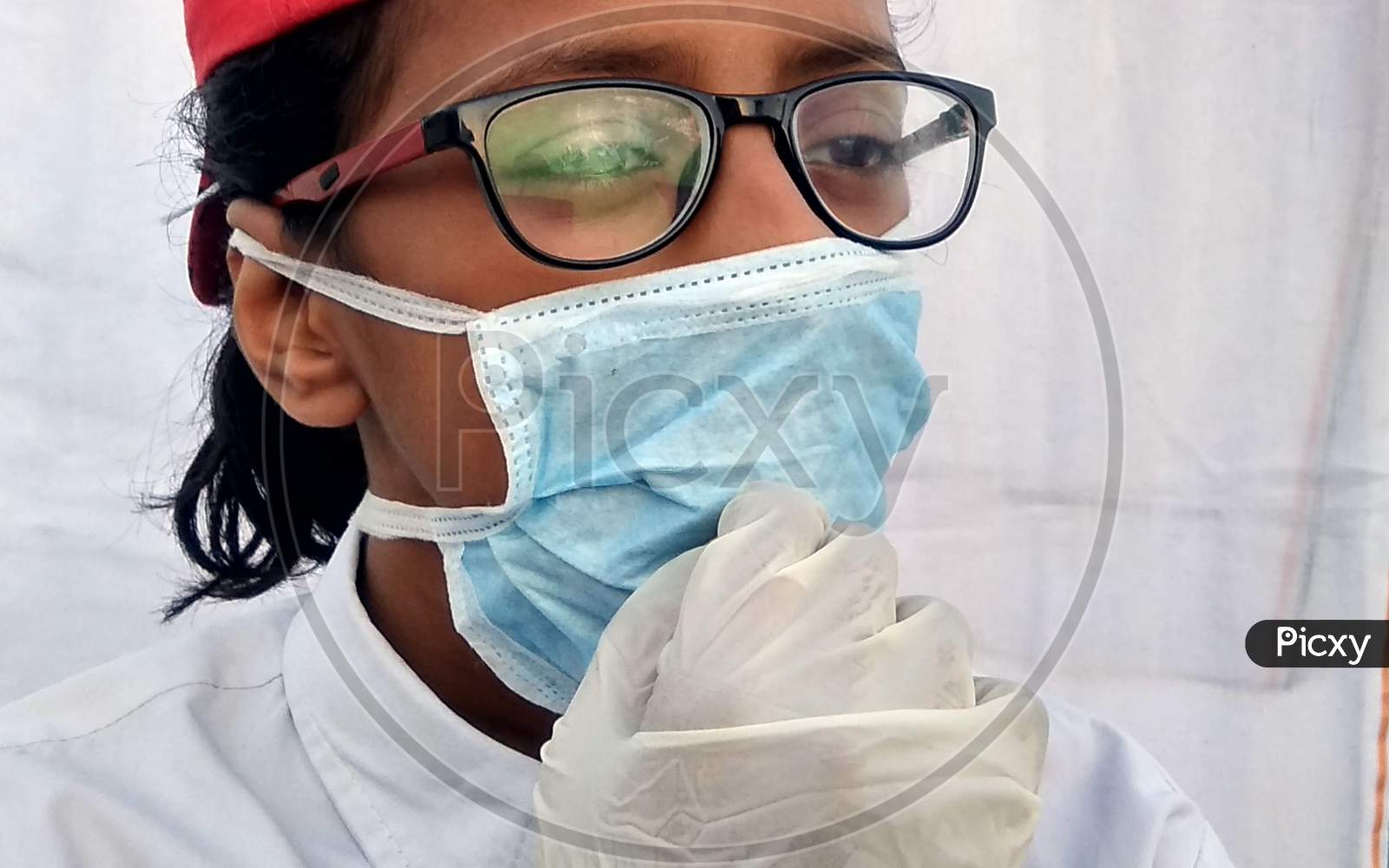 Doctor-Patient concept act by children at the time of corona Pandemic