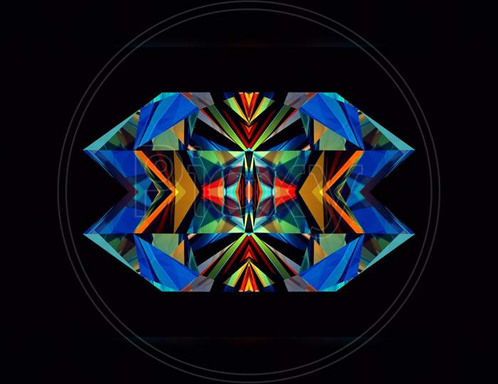 A creative beautiful 3d design abstract