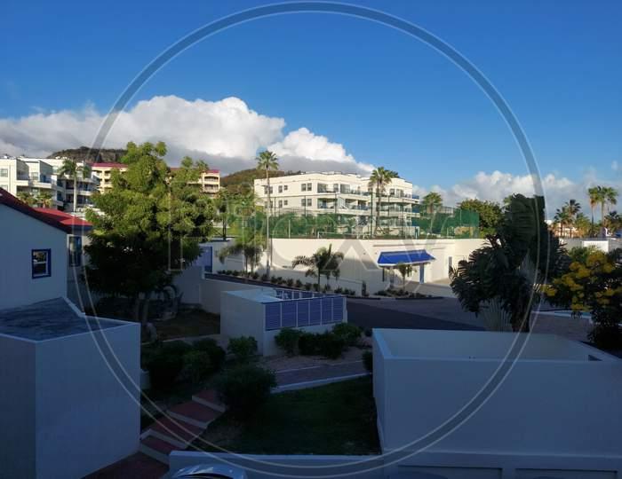 Philipsburg, Sint Maarten April 25 2021 A Sunny Day In Sint Maarten ,A View From Flamingo Beach Resort