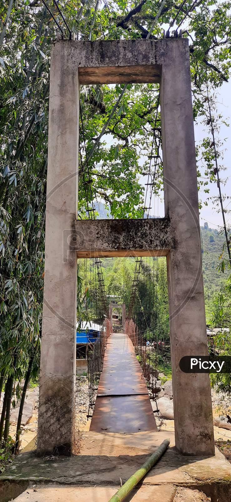 Palang River Bridge at Pacha, Seppa