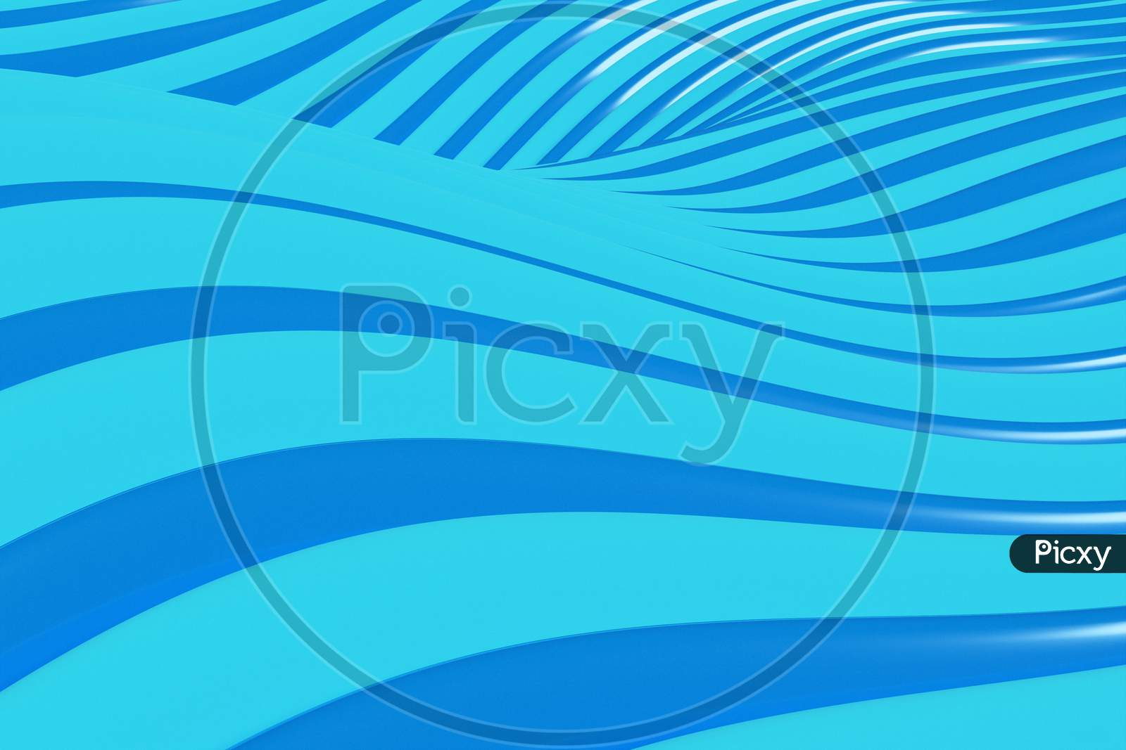 3D Illustration  Rows Of Blue Line  .Geometric Background, Weave Pattern.