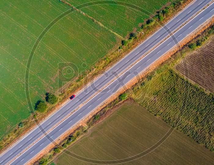 Drone view of Nandhyala Allagadda Highway