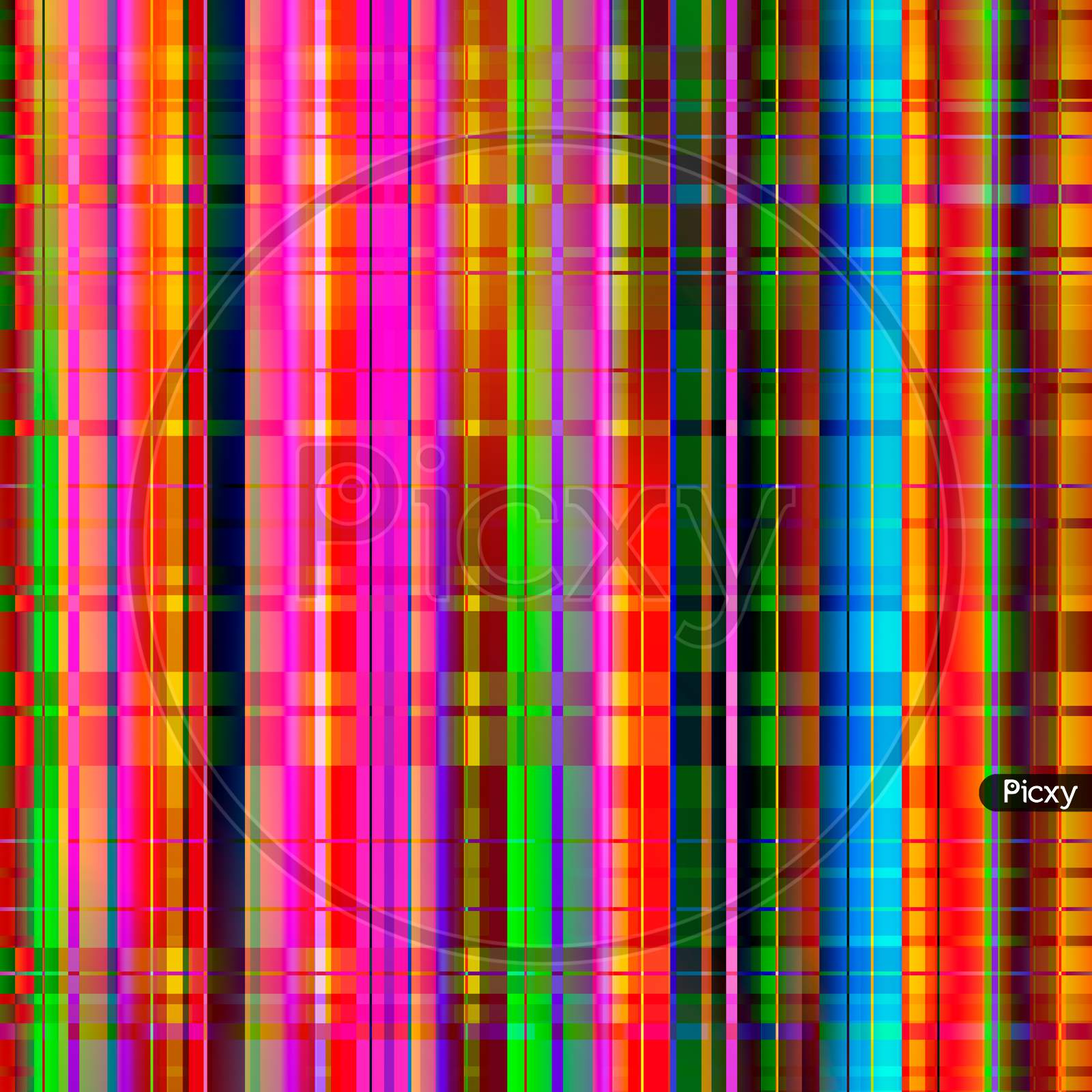 Colorful Abstract Lines Pattern. Bright Colors Abstract Background.
