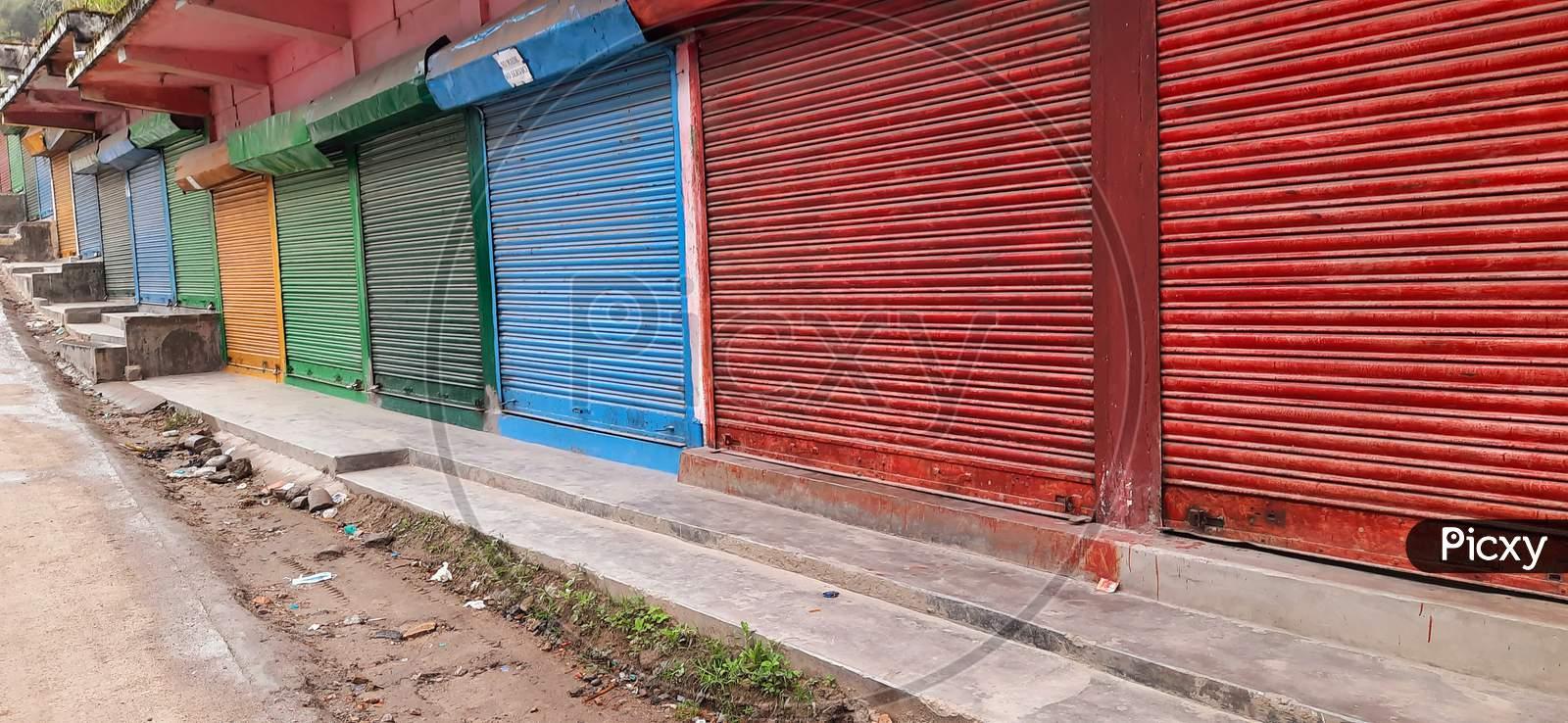 Lock-Down shop at Seppa, East Kameng, Arunachal Pradesh