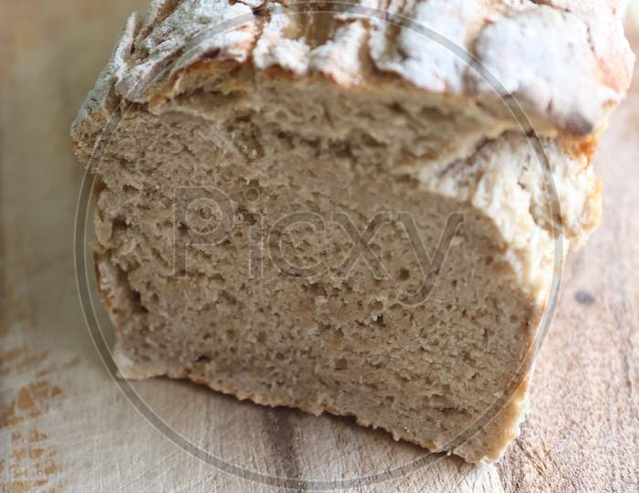 Selective Focus View At A Fresh Baked Crusty Bread